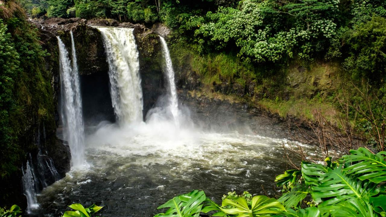 waterfall on island of Hawaii